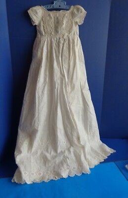 Vintage Antique Handmade Christening Gown For Baby Or Large Doll
