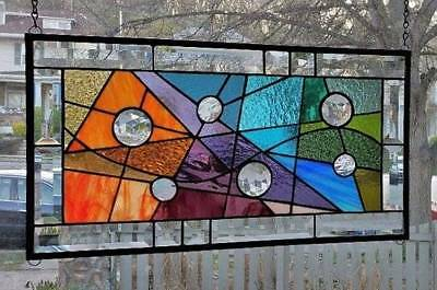 **EMBRACED BY COLOR** Stained Glass Window Panel (Signed and Dated)