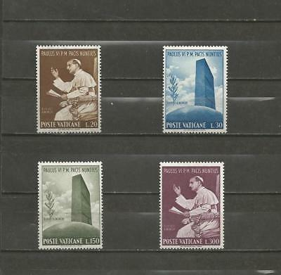 VATICAN CITY-  1965 The Journey of Pope Paul to UN  - MINT UNHINGED SET.
