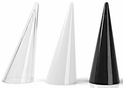 3pc Acrylic SET Cone Finger Ring Display Stand Showcase Holder USA SELLER