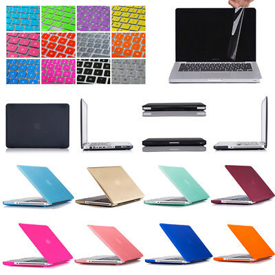Hard Plastic Case Shell Keyboard Cover Screen Protector For MacBook Pro 13 A1278