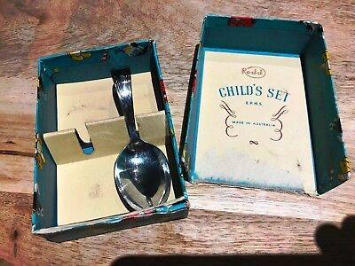 Rodd Child's Set-E P N S-Australia.No 2S & P-1950's-Spoon no Slipper-Fab Box.