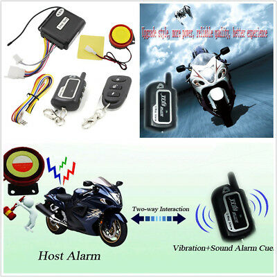 125DB Motorbike Two-Way Antitheft Lock Security Alarming Kit Engines Starter Kit