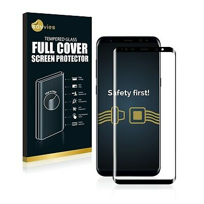 Full Cover Samsung Galaxy S8 Plus 9H Tempered Glass Screen Protector Film black