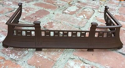Beautiful Vintage Antique Cast Iron Hearth Or Grate Surround Cast Iron #1950