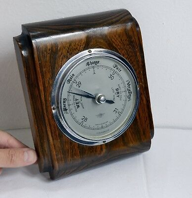 Wonderful Vintage Shortland Brothers Barometer with Wooden Frame & Glass Face