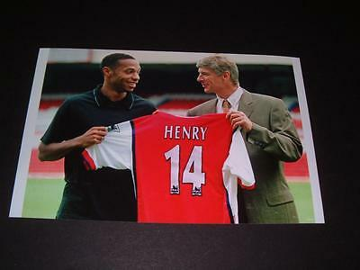 Arsenal Fc Legend Thierry Henry 1999 Signing With Arsene Wenger Photo