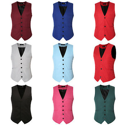 Fashion Mens Business Waistcoat Multi-colors Wedding Event Party Tuxedo Vest