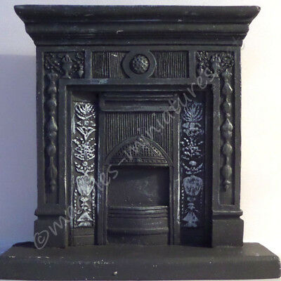 "Dolls House ""Cast Iron"" fireplace - Resin"