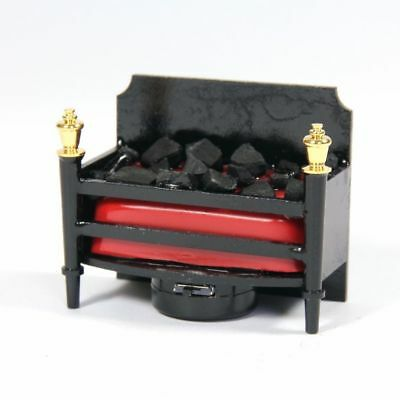 Dolls House 12th scale Flickering Fireplace LED light battery operated