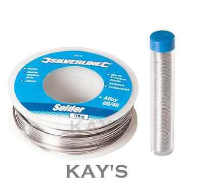 SOLDERING WIRE FLUX COVERED PLUMBING ELECTRICAL CIRCUIT BOARD 20g-100g TIN/LEAD