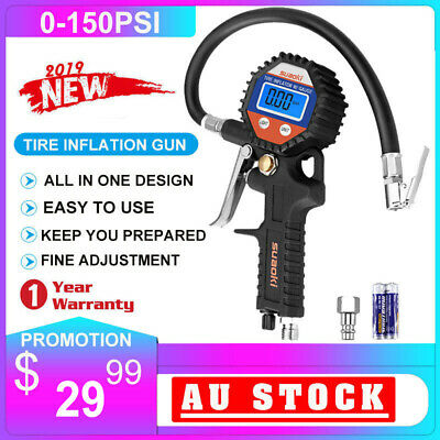 Suaoki Inflator Tyre Rapid Tire Air Pressure Gauge Truck Pump Compressor 150 PSI