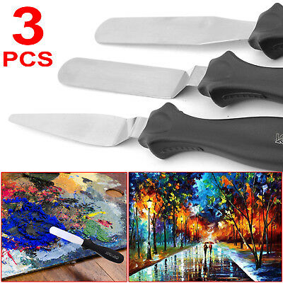 3pcs Painting Stainless Steel Palette Knife Spatula Oil Painting Paint Knives