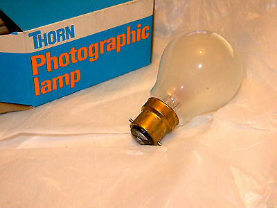 Thorn EMI P1/1  photoflood lamp. Made in Great Britain. 275W BC (Bayonet cap)