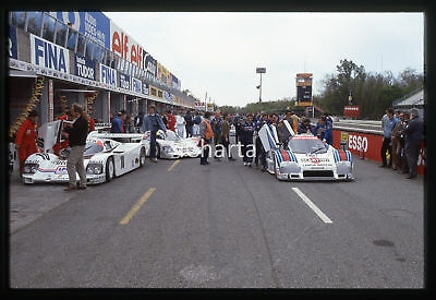 35mm vintage slide* 1985 1000 KM MONZA LANCIA LC2/85 Martini ai box (2)