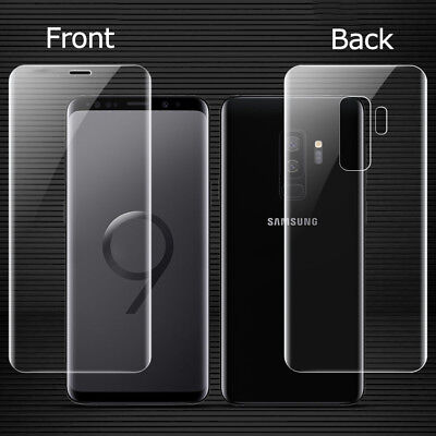 For Samsung Galaxy S9 S8 Plus 3D Curved Front+Rear Temper Glass Screen Protector
