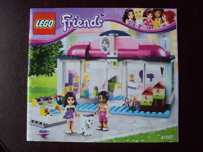Lego Friends 41007 Heartlake Pet Salon Instruction Manual Booklet