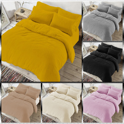 New Teddy Bear Fleece Duvet/Quilt Cover Extra Warm Bedding Set With Pillowcases