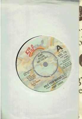 First Choice Hold Your Horses 45 Demo 1978
