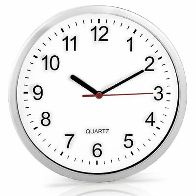 "8"" Analogue Plain Wall Quartz Clock Battery Powdered Home Decor Kitchen House"