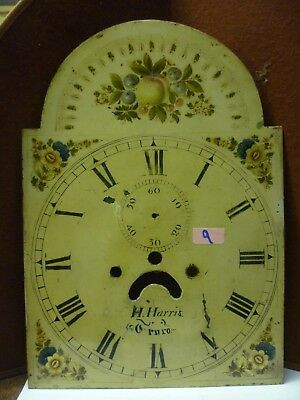Antique 8 Day Longcase Dial H Harris Truro 17ins By 12ins (9)