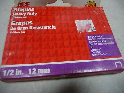 """ACE 1/2"""" 12mm Heavy Duty Wide Crown I Staples 22268"""