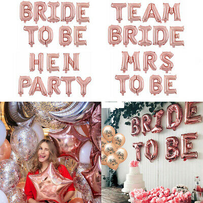 Bride To Be Engaged Hen Party Balloons Foil Letter Balloon Helium Wedding Decor