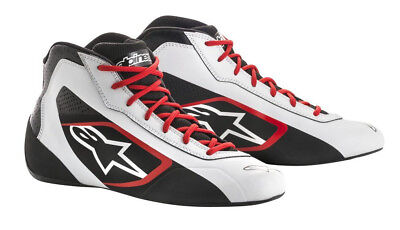 Go Kart Alpinestars Tech-1 K Start Boot White / Black/ Red Adult UK 10