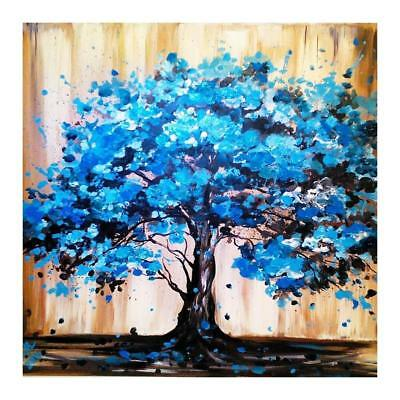 "Diamond Painting - Diamant Malerei - Stickerei - ""Blauer-Baum-Vollbild"" (840/1)"
