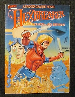 1988 HEXBREAKER by Mike Baron FN+ 6.5 1st First Badger Graphic Novel