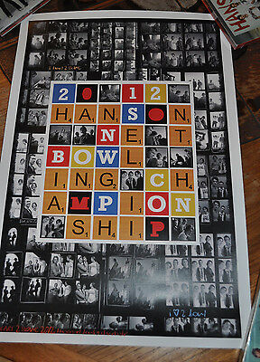 *RARE* Hanson I HEART to Bowl 2012 Members Event Poster!