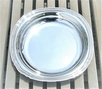"""Vintage Christofle Coll. Gallia Silver Plated Round Deep Serving Platter 10.6"""""""
