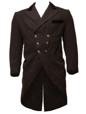 "Grey Tailcoat. Charcoal. Wool. Chest 44"". Steampunk/Theatre/MC/Carnival/Wedding."
