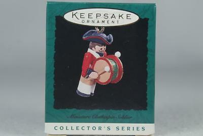 Hallmark '1996 Clothespin Soldier' 2nd The Series Miniature Ornament New In Box
