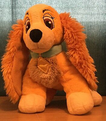 Disney Store Exclusive Lady & The Tramp 11 Inch Lady Soft / Plush Toy