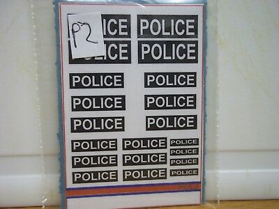 20 x Police. Stickers on one sheet (P 2)