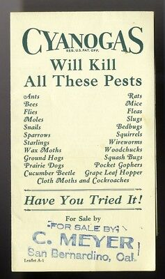 POISON for PESTS BUGS Cyanogas Brochure c 1930's American Cyanamid Co