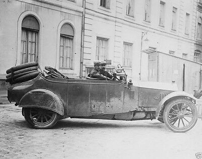 German army Mercedes staff car captured by French troops World War I 8x10 Photo