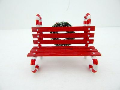 Dept 56 North Pole Snow Village - Candy Cane Bench 52669 Issued 2012 Wbx  Mint