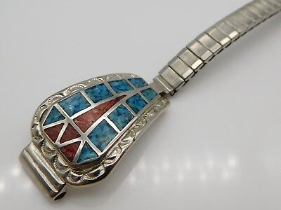 BEAUTIFUL Sterling Silver / Turquoise Ladies Wristwatch Band