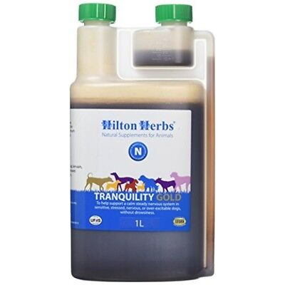 Hilton Canine Tranquility Gold Herbal Solution 1 Litre - Herbs Dog Cat