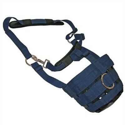 Comfort Grazing Muzzle - Padded With Adjustable Controlling Grass Intake [navy,