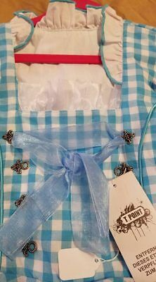 Girls,Kids,size 8.Germany,German,Trachten,May,Oktoberfest,Dirndl,2-pc.Blue