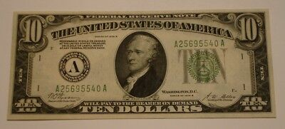 1928 B $10 Ten Dollar Federal Reserve Note GOLD ON DEMAND Redeemable FRESH Color