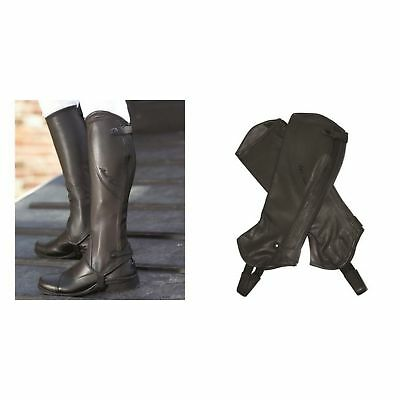 Mark Todd Adults Standard Close Fit Leather Half Chaps (TL2090)