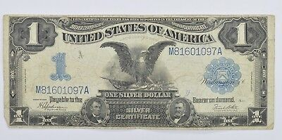 RARE - 1899 - Black Eagle $1.00 Large Size US Silver Certificate - Iconic! *349