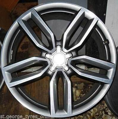 """19"""" Apec Style To Fit Audi Sq5 S3 Wheels & Tyres Polished Grey Limited S-Line"""
