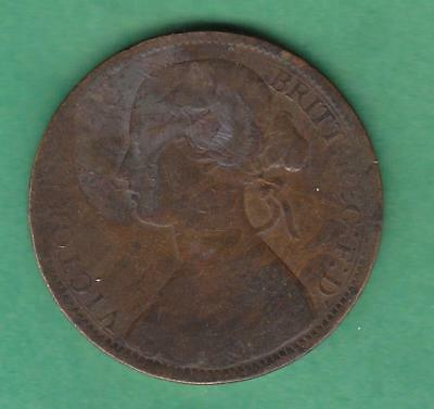 1862 Great Britain one Penny, circulated, inv#9624