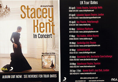 Stacey Kent May 2018 Flyers X 2 - I Know I Dream Tour