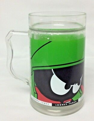 "Warner Bros Looney Tunes Marvin the Martian 6"" Tall Plastic Cup Mug RARE Design"